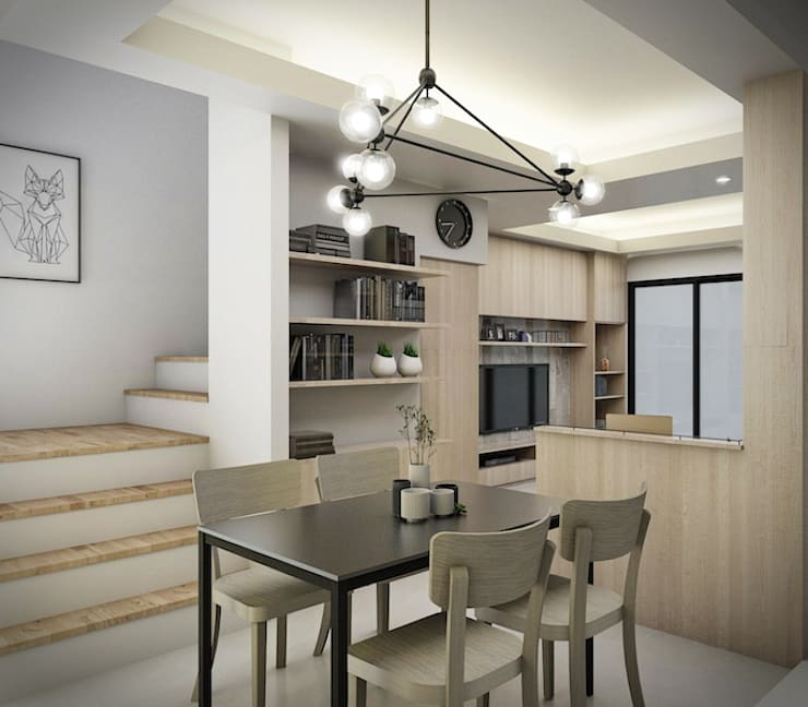 Town home renovation:  ตกแต่งภายใน by The guidelines design studio