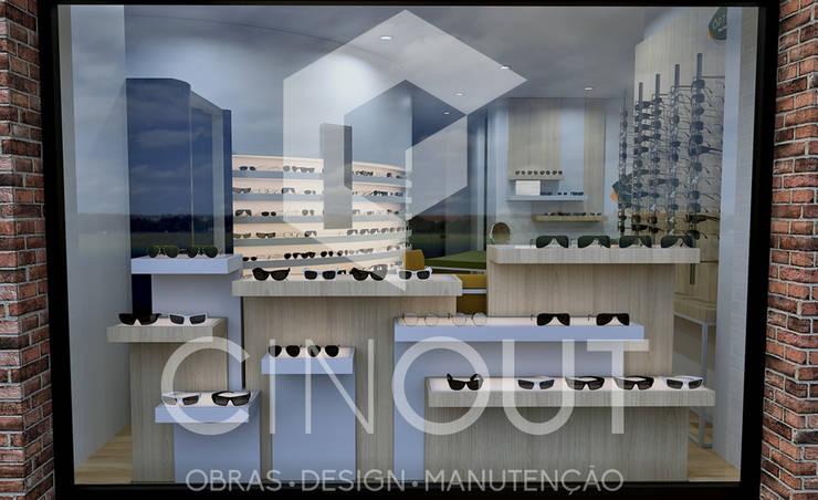 Espaces commerciaux modernes par CINOUT - Obras, Design e Manutenção Lda. Moderne