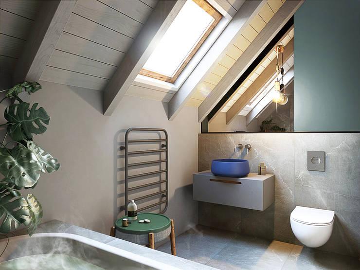 浴室 by razoo-architekci, 隨意取材風