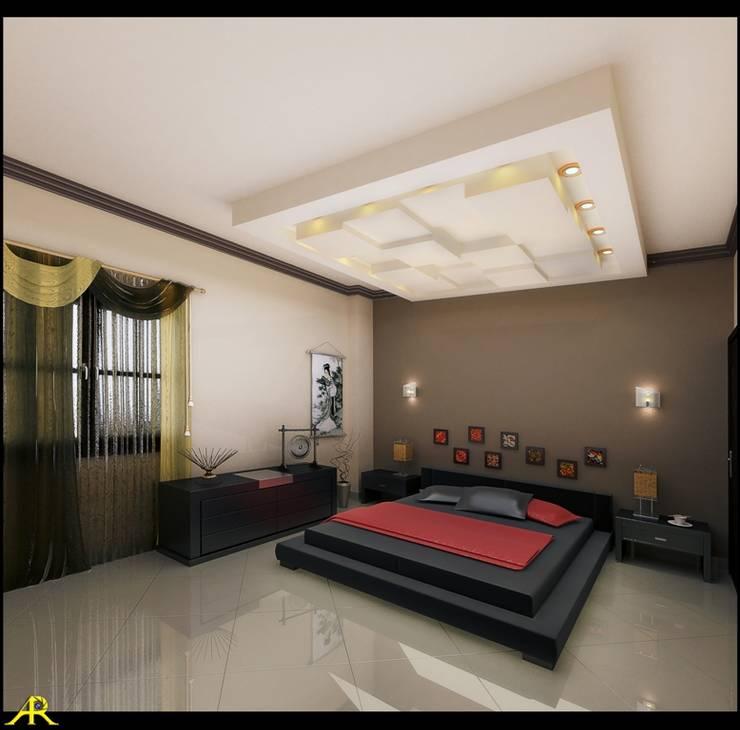 شقة بتصميم مصري:  غرفة نوم تنفيذ Etihad Constructio & Decor,
