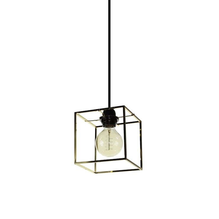 Object / Light Cube Pendant Brass Plated: SANUC의  실내 조경
