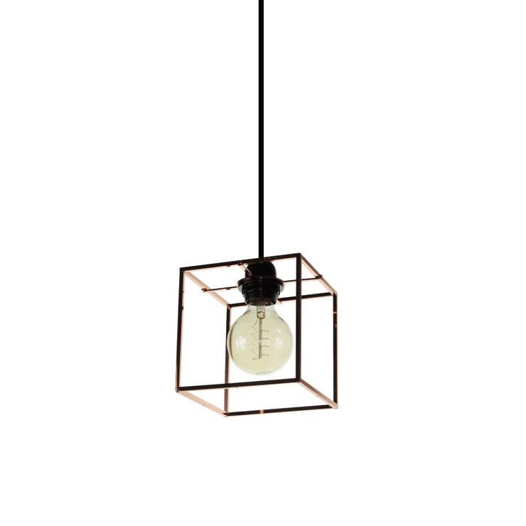 Object / Light Cube Pendant Copper Plated: SANUC의  실내 조경