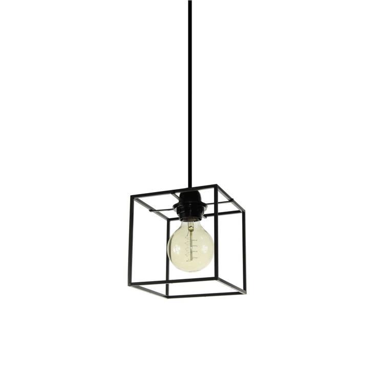 Object / Light Cube Pendant Dark Grey Lacquered: SANUC의  실내 조경