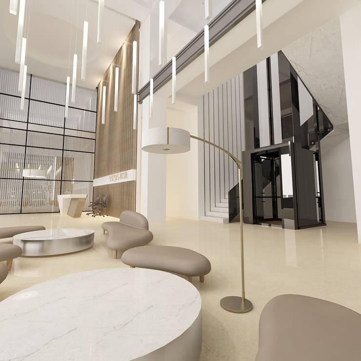 MAG Tasarım Mimarlık İnşaat Emlak San.ve Tic.Ltd.Şti. – Gökçağ Kumaşçılık Çerkezköy :  tarz Ofisler ve Mağazalar