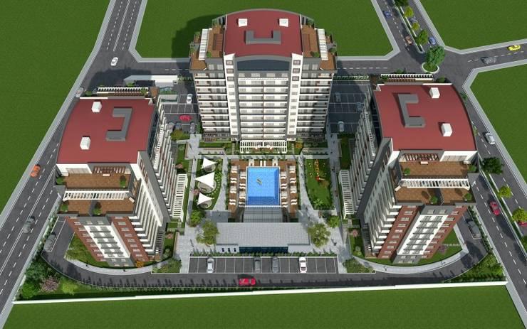 MAG Tasarım Mimarlık İnşaat Emlak San.ve Tic.Ltd.Şti. – TrioParkKonut Çorlu : modern tarz , Modern