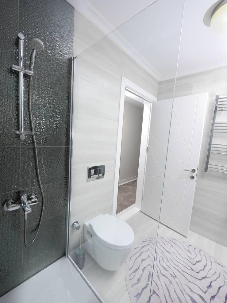 MAG Tasarım Mimarlık İnşaat Emlak San.ve Tic.Ltd.Şti. – TrioParkKonut Çorlu - Örnek Daire:  tarz Banyo, Modern