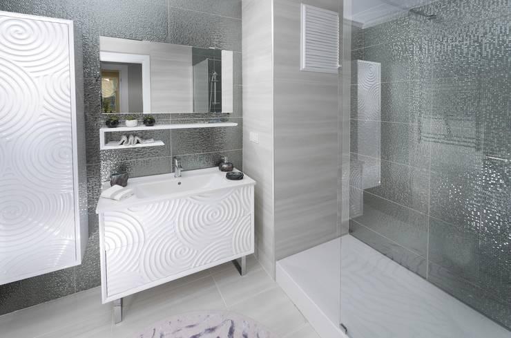 MAG Tasarım Mimarlık İnşaat Emlak San.ve Tic.Ltd.Şti. – TrioParkKonut Çorlu – Örnek Daire:  tarz Banyo, Modern