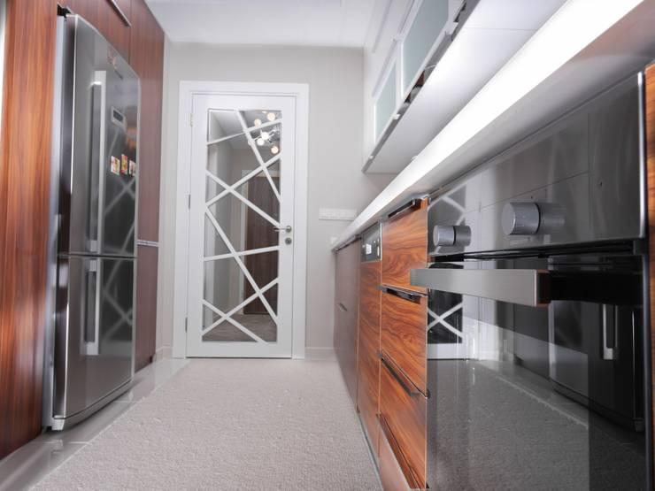MAG Tasarım Mimarlık İnşaat Emlak San.ve Tic.Ltd.Şti. – TrioParkKonut Çorlu – Örnek Daire:  tarz Mutfak, Modern