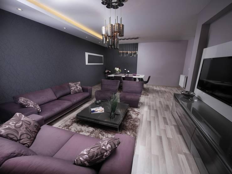 MAG Tasarım Mimarlık İnşaat Emlak San.ve Tic.Ltd.Şti. – TrioParkKonut Çorlu - Örnek Daire:  tarz Oturma Odası