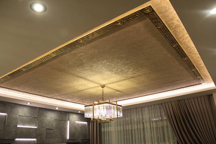 50GR Mimarlık – Cevizlibağ_Salon tasarımı:  tarz Oturma Odası