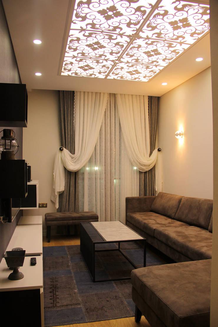 50GR Mimarlık – Cevizlibağ_oturma odası:  tarz Oturma Odası, Modern