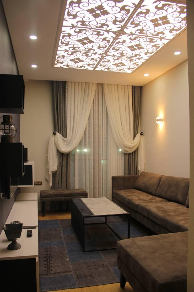 50GR Mimarlık – Cevizlibağ_oturma odası:  tarz Oturma Odası