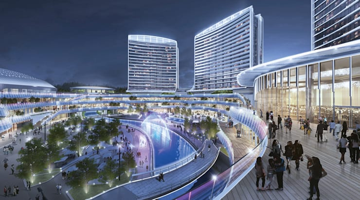 Novotown, Hengqin, Zhuhai, China, by Aedas :  Commercial Spaces by Architecture by Aedas, Modern