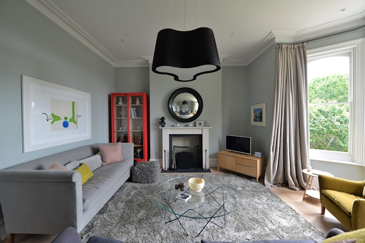 House refurbishment and extensions:  Living room by BBM Sustainable Design Limited