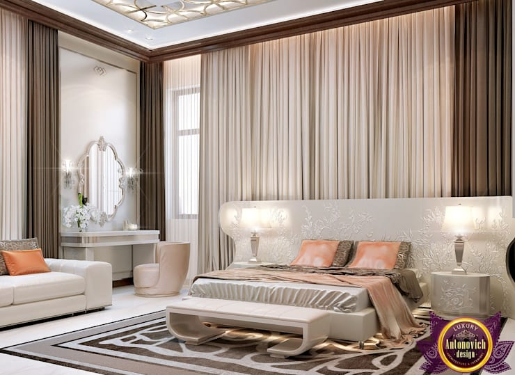 Interior Design bedroom by Katrina Antonovich Modern style bedroom by Luxury Antonovich Design Modern