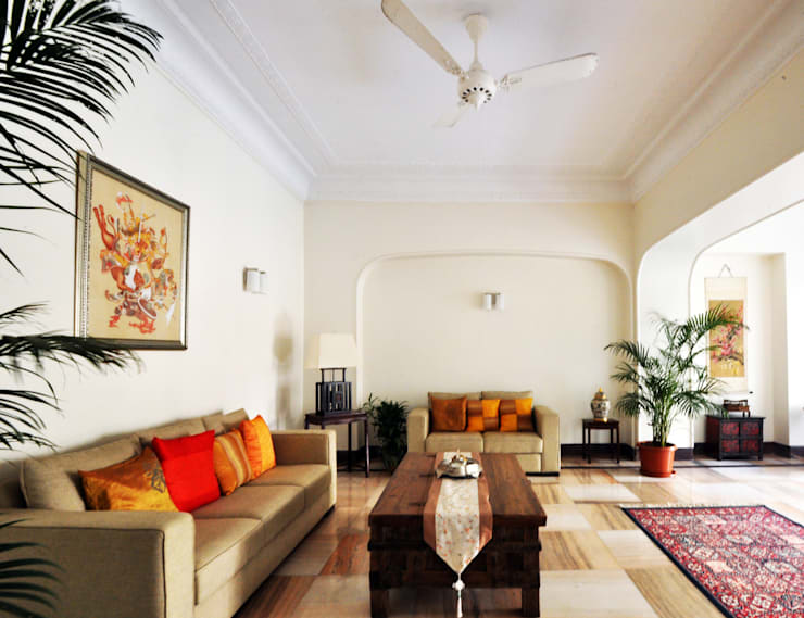 :  Living room by Dhruva Samal & Associates