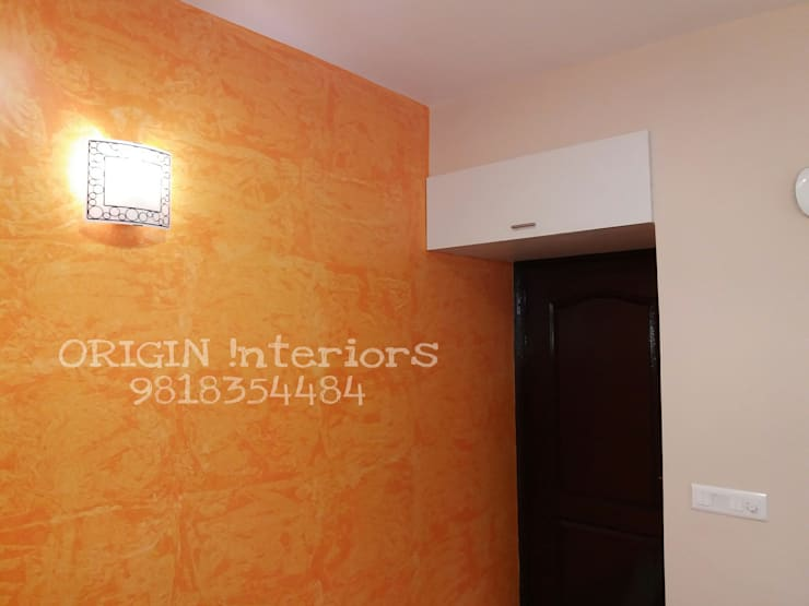 painting in noida: asian Living room by origin interiors noida