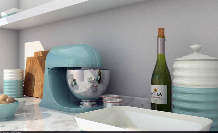 TON Mimarlık – Mutfak Tezgahı:  tarz , İskandinav