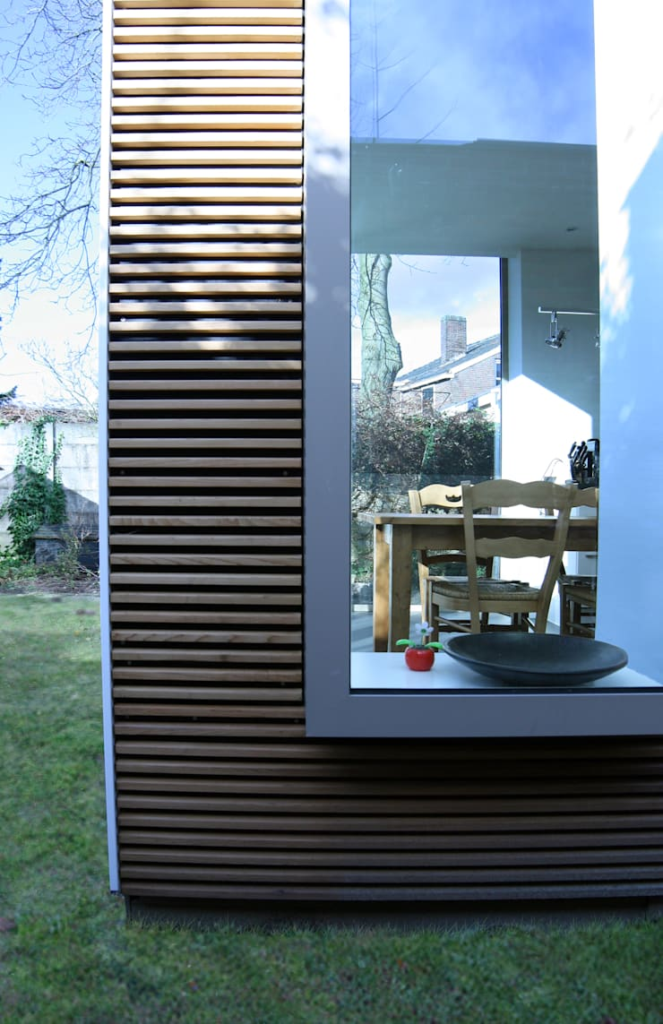 erker:  Huizen door HSH architecten, Modern Hout Hout