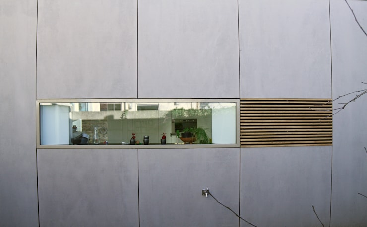 raamdetail:  Ramen door HSH architecten, Modern Hout Hout