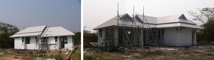 งานติดตั้งบานประตู-หน้าต่าง งานฝาเพดานทั้งหมด งานติดตั้งระบบไฟฟ้า:   by สำนักงานสถาปนิกอนุชา