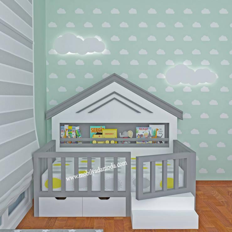 MOBİLYADA MODA  – Montessori Bebek Odası, Atlas'ın Odası:  tarz Çocuk Odası, Modern Ahşap Ahşap rengi