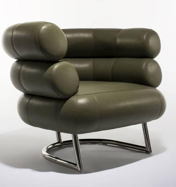 Poltrona Armchair By Eileen Gray www.intense-mobiliario.com  BIBENDUM : Sala de estar  por Intense mobiliário e interiores;