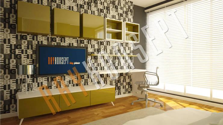 RayKonsept – Yeşil Kapaklı Tv Ünitesi:  tarz Oturma Odası