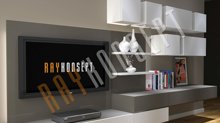RayKonsept – Duvara Monte Tv Ünitesi:  tarz Oturma Odası,