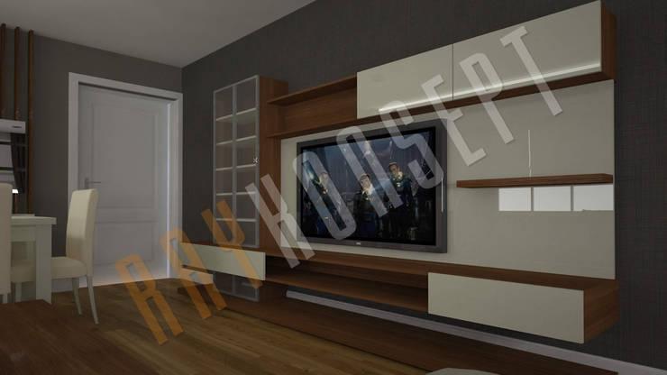 RayKonsept – Beyaz Lake Tv Ünitesi:  tarz Oturma Odası,