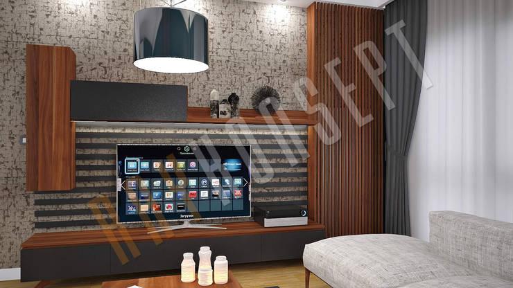 RayKonsept – Zebrano Tv Ünitesi:  tarz Oturma Odası,