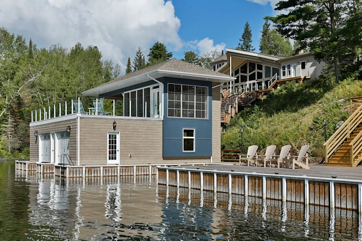 Lake of the woods Boat house:  Houses by Unit 7 Architecture