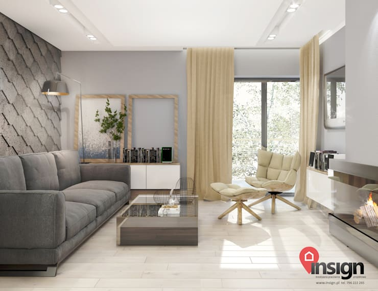 CHO_01: styl , w kategorii Salon zaprojektowany przez InSign Pracownia Projektowa Karolina Wójcik