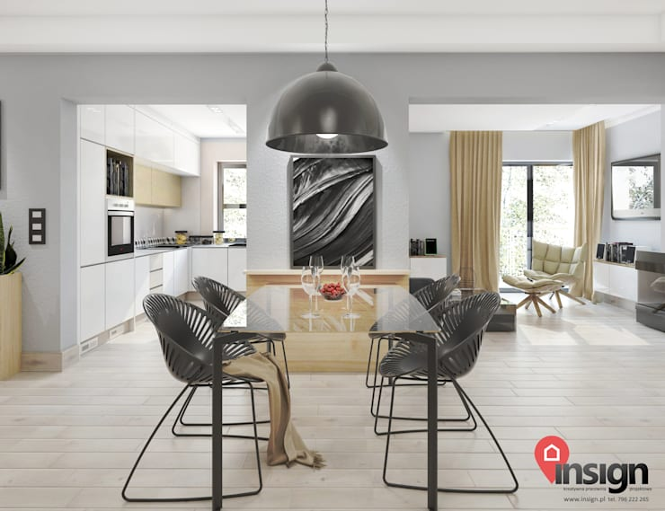CHO_01: styl , w kategorii Jadalnia zaprojektowany przez InSign Pracownia Projektowa Karolina Wójcik,