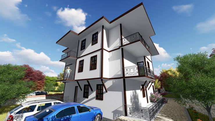 Kesit Mimarlık – Melahat Atay Apartmanı:  tarz Evler, Klasik Demirli Beton