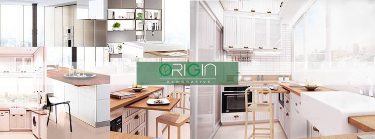 Renovate ห้องครัวคอนโด ประชานิเวศน์1:   by Origin Decorative