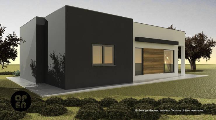 Moradia T2 – Construção LSF:   por ATELIER OPEN ® - Arquitetura e Engenharia