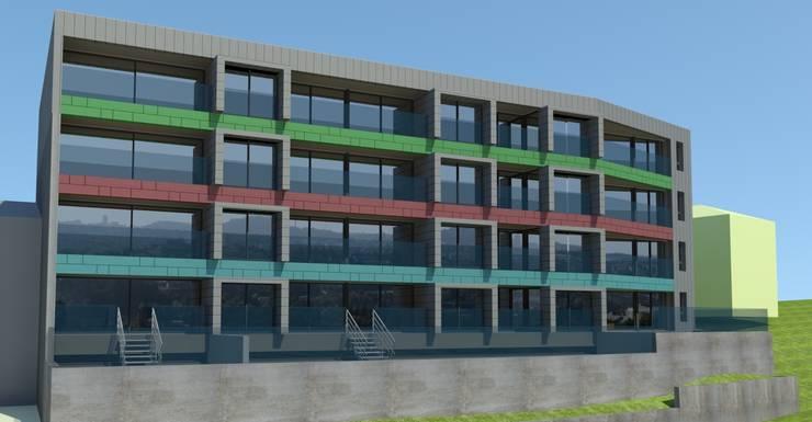 Projeto aprovado de edifício de habitação coletiva com vistas sobre o rio - À espera de investidores para construção:   por Albertina Oliveira-Arquitetura Unipessoal Lda