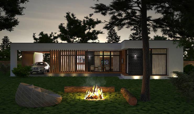 Проект современного одноэтажного дома в России: Дома в . Автор – Sboev3_Architect