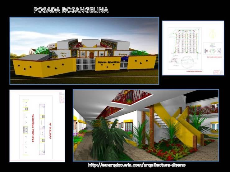 Proyecto Posada Rosangelina:  de estilo  por A.M. ARQUITECTURA +DISEÑO