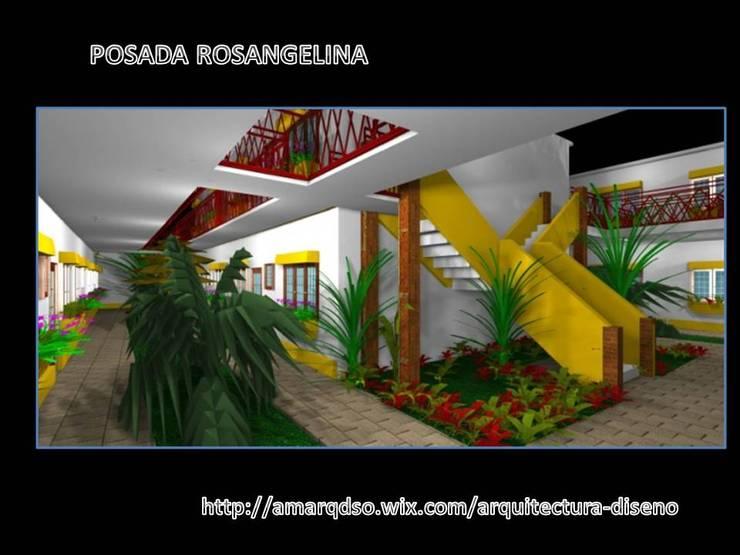 POSADA ROSANGELINA:  de estilo  por A.M. ARQUITECTURA +DISEÑO