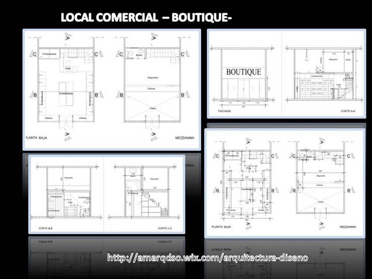 Proyecto Local Comercial -Boutique-:  de estilo  por A.M. ARQUITECTURA +DISEÑO