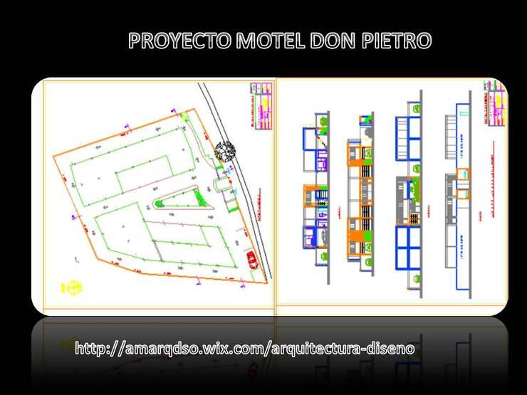 """Proyecto Motel Don Pietro"""" :  de estilo  por A.M. ARQUITECTURA +DISEÑO"""