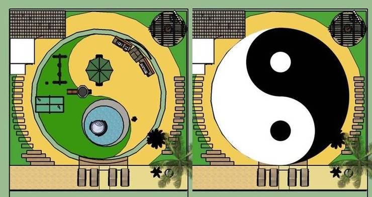 PROYECTO PAISAJISMO YIN - YANG:  de estilo  por A.M. ARQUITECTURA +DISEÑO