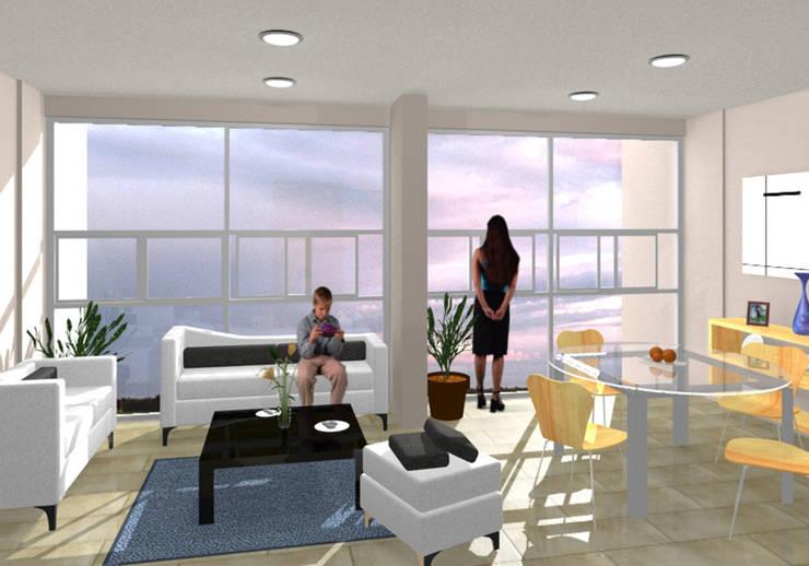 Torres del Rio - MAC Arquitectos Consultores: Salas de estilo  por MAC Arquitectos Consultores