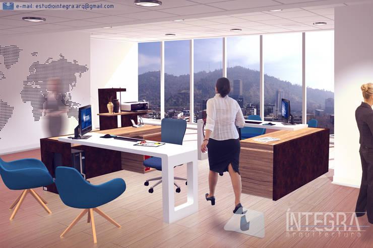 Espacio de atención al cliente: Oficinas y locales comerciales de estilo  por Íntegra Arquitectura,