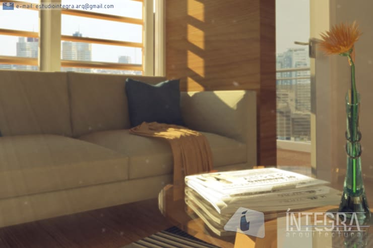 Aires de Contrastes: Livings de estilo  por Íntegra Arquitectura