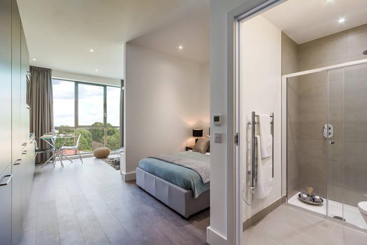 Projekty,  Sypialnia zaprojektowane przez homify