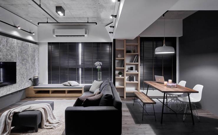TOUGH   INN:  客廳 by 寬度 空間設計整合