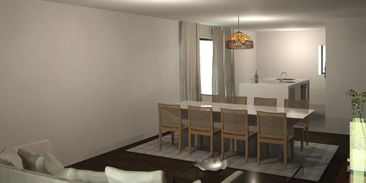 Casa Ribela: Salas de jantar  por OPUS - MATER